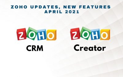 Zoho Updates, New Features – April 2021